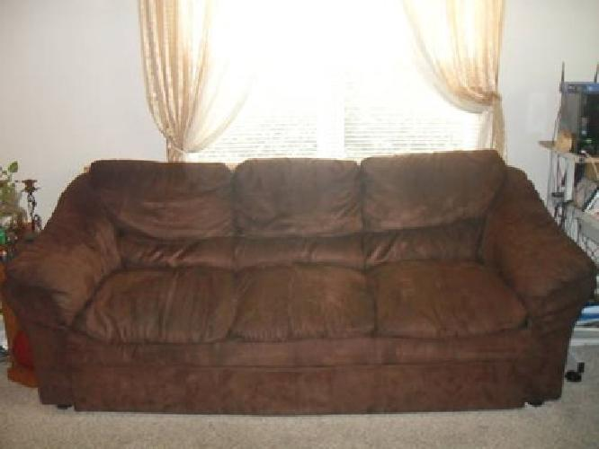$85 Brown Suede Microfiber Couch