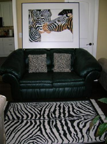$85 Zebra oil painting, rug and ascents