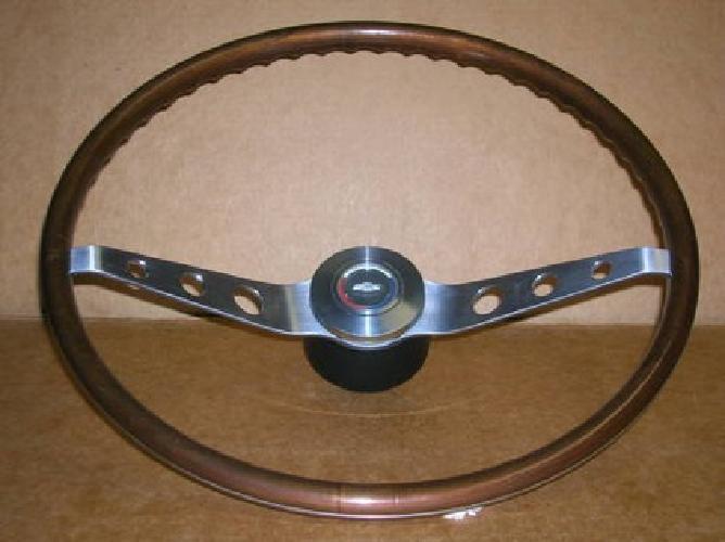 $875 64 65 66 Chevrolet Caprice, Impala, Ss, N34 Walnut Wood Steering Wheel