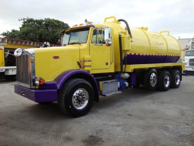 $87,500 2002 Peterbilt New 4,800 gallon vacuum truck frac