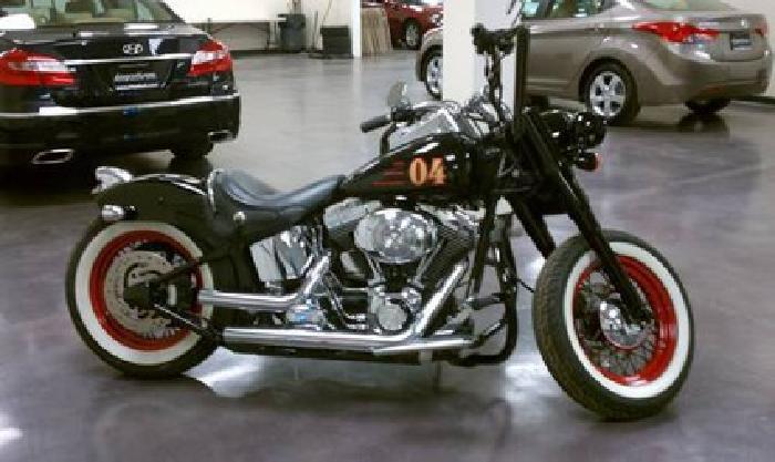 8295 05 Harley Davidson Flstf Softail Fatboy Ole Skool Bobber