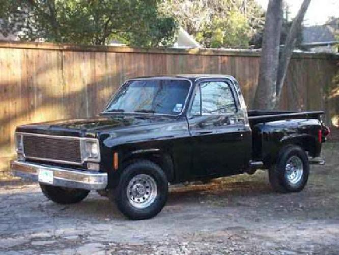 8 500 1973 chevy c 10 stepside pickup chevrolet truck for sale in houston texas classified. Black Bedroom Furniture Sets. Home Design Ideas