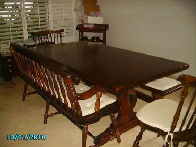 Ethan Allen Antique Pine Dining Room Set - ethan allen antiqued ...