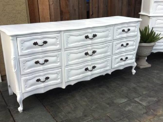 900 french provincial shabby chic extra large bedroom set - Shabby chic bedroom sets for sale ...