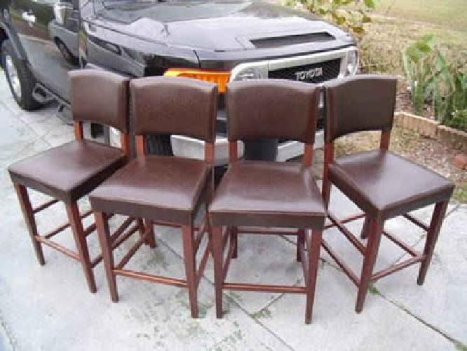 90 4 Bar Stools Pier 1 Brown Leather Wood 90 St