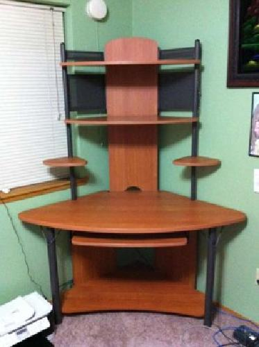 90 modern corner wood tower computer desk lots of for Furniture in federal way