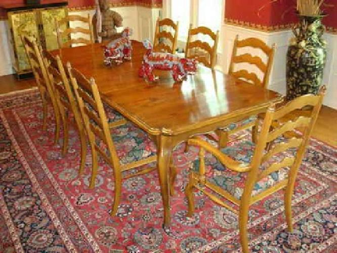Tremendous 950 Ethan Allen Chateau Normandy Dining Room Table And Squirreltailoven Fun Painted Chair Ideas Images Squirreltailovenorg