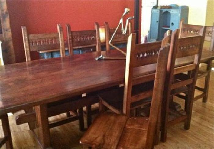 $950 Hand crafted solid wood dining room set for sale in