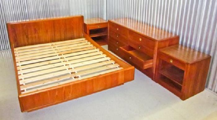 Scandinavian Teak Bedroom Furniture Complete Danish Modern Teak ...