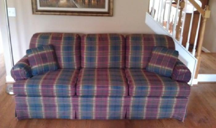 $95 OBO Clayton Marcus Plaid Sofa