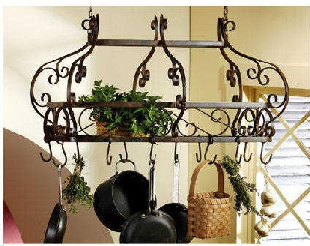 99 New Rustic Wrought Iron Pot Rack For Sale In Katy