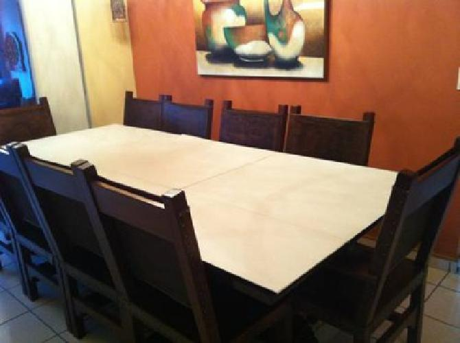 9 000 10 seat oak dining table and chairs for sale in for 10 seater dining table sale