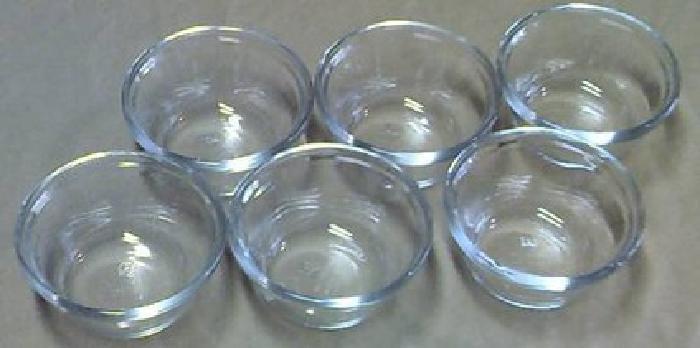 $9 Six Anchor Hocking #1034 Clear Glass 6OZ Custard Cups