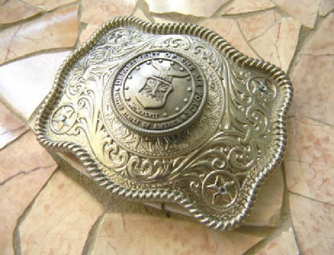 Air Force Silver Concho Belt Buckle