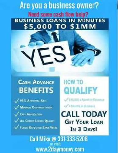Are you in need working capital $$$ for your business