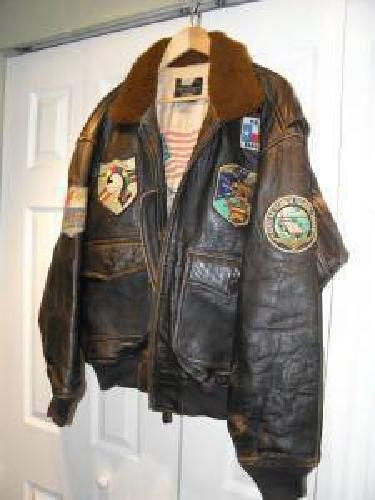 745066b3651 Authentic Vintage Avirex G-1 top Gun Flight Jacket with Patches for ...