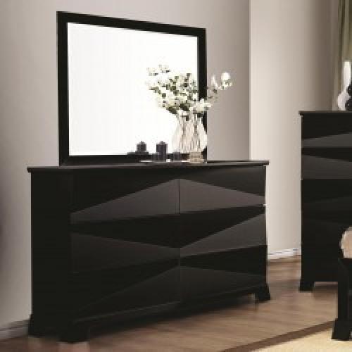 Black Dresser with Plenty of Storage Room