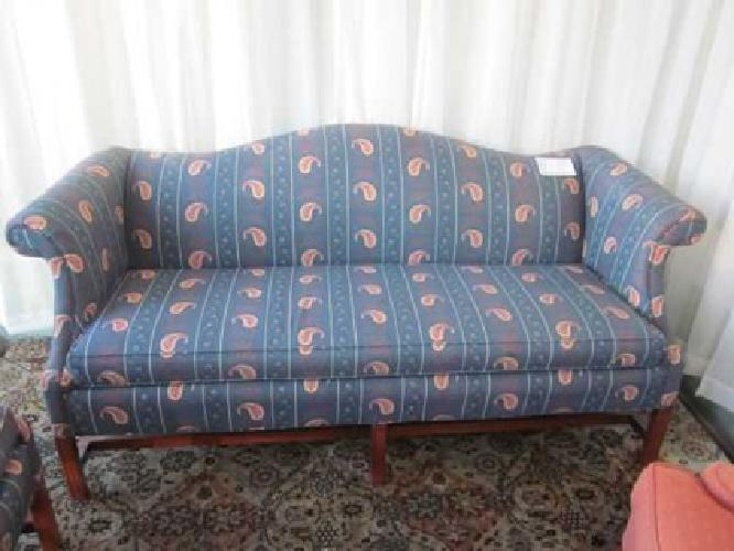 Blue Paisley Sofa Marcia s Second Time Around for sale