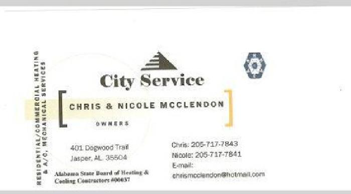 City Service- Heating, A/C, Refrigeration Mechanical Services