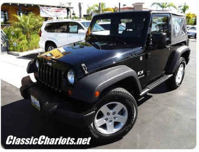 classic chariots 9826 used jeep north county sd 2008 wrangler x for sale in vista california. Black Bedroom Furniture Sets. Home Design Ideas