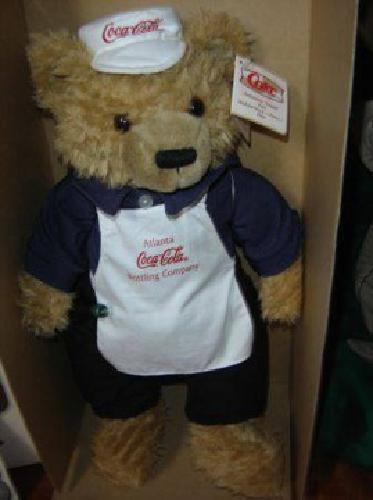 Coca Cola Soda Fountain Teddy Bear Umbearto Cappy Diaz (NW Rockwellokc.,)