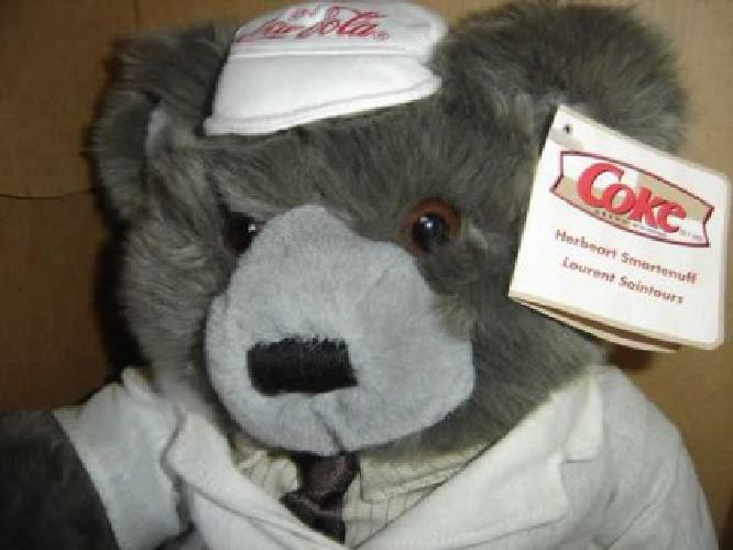 Coca Cola Soda Fountain Teddy Bear W/Coa (NW Rockwell Okc.)