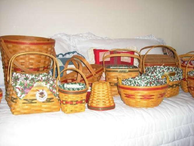 Collection of longaberger baskets pottery for sale in Longaberger baskets for sale