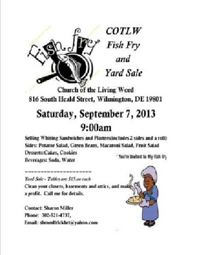 COTLW Fish Fry and Yard Sale