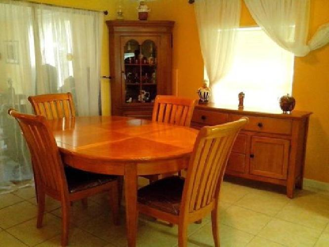 Dining Room Set, Sideboard and corner stand- ALL FOR
