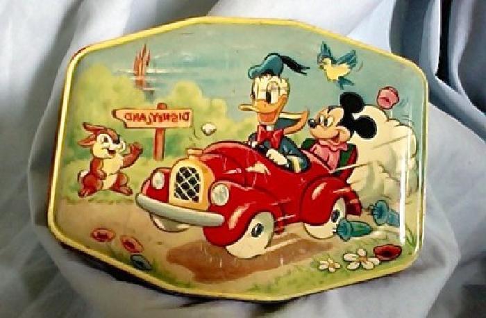 Disney Tin... Vintage... Old... Collectible. . . Tin
