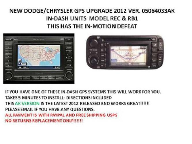 Dodge chrysler & jeep navigation dvd rec/rb1 VER. AL 2013