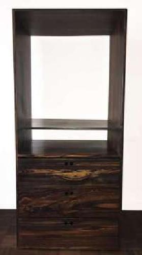 Dresser or TV stand with drawers in rare ebony wood
