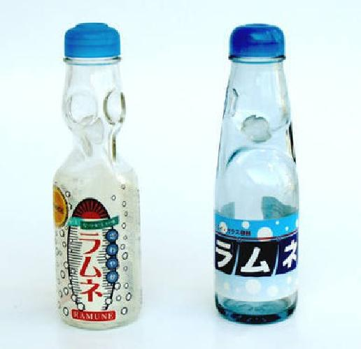 Empty Codd Neck Ramune Glass Soda Pop Soft Drink Bottle