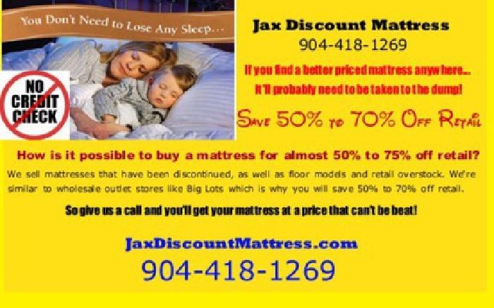 Free Jacksonville Foam Mattress Store fers No Credit