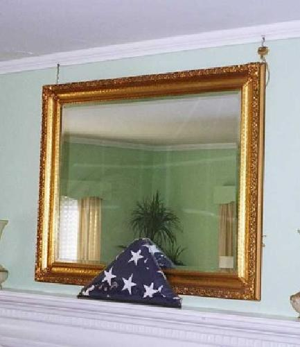 Free large gold framed mirror for sale in columbia south for Large framed mirrors for sale