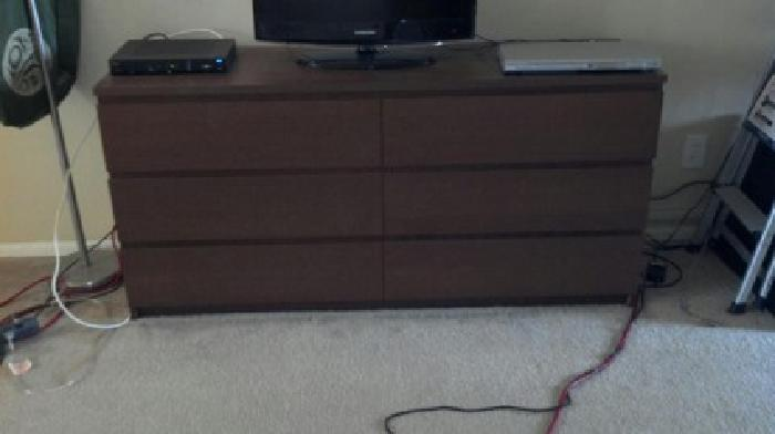 Free Malm 6 Drawer Dresser From Ikea In Medium Brown