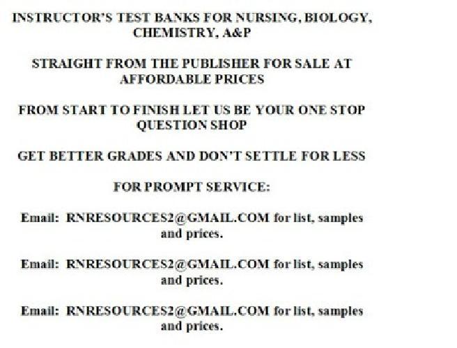 Free Nursing School Instructor's Test Banks / Bank /ATI