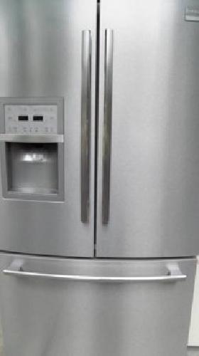 French door refrigerator & double oven range - stainless steel