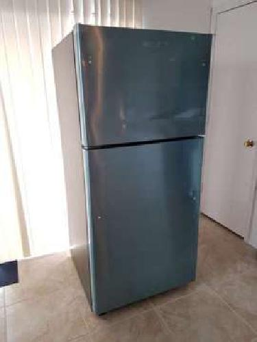 GE 18.2 top-freezer stainless steel refrigerator