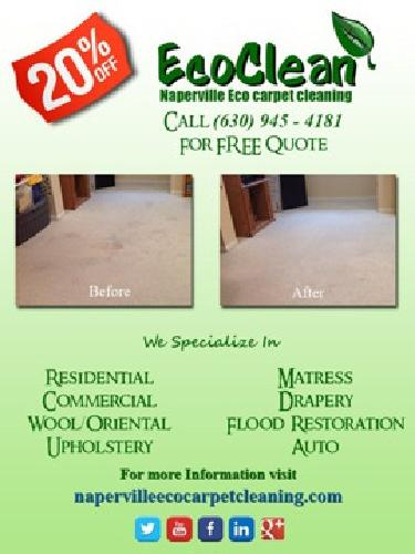 Giving you the cleanest carpets in Naperville without cleaning your wallet