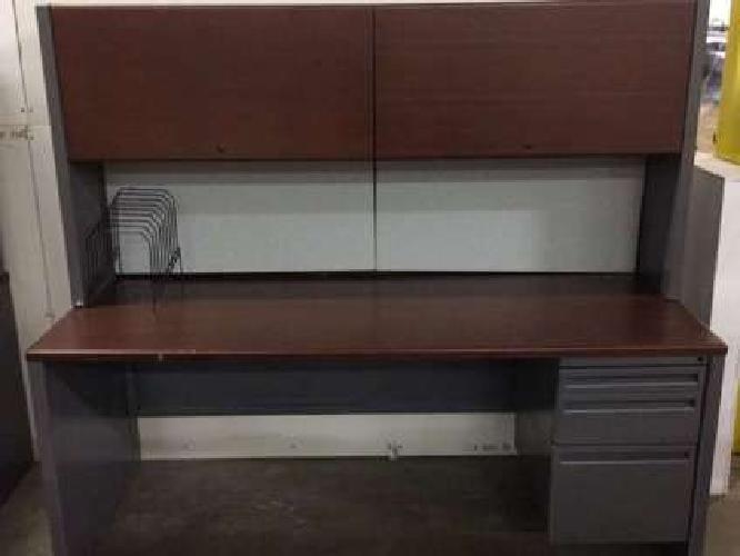 GREAT OPTION - Used Haworth Desk and Hutch