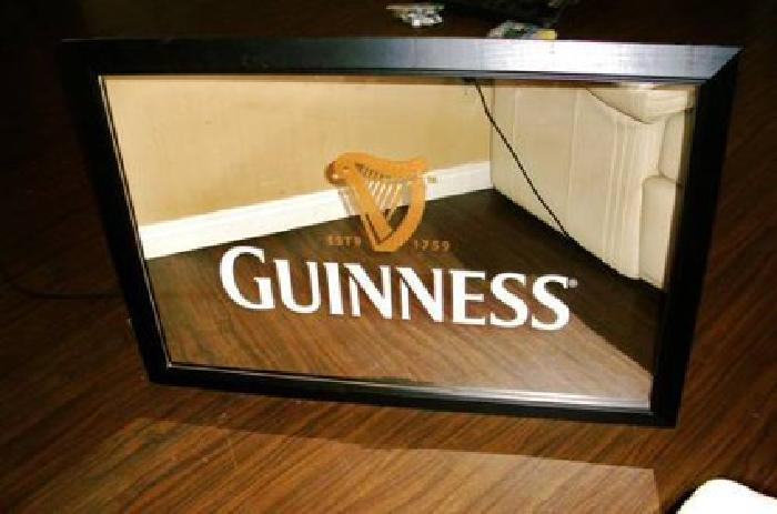 Guinness Bar Mirror Large New For Sale In Tehachapi