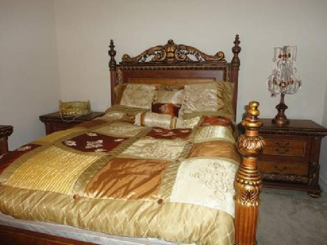 Hand made egyptian bedroom set for sale in los angeles for Bedroom furniture 90036