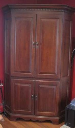 Hooker Furniture Cherry Corner Armoire / TV Entertainment ...