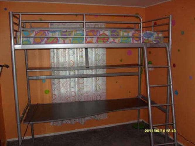 Ikea Twin Loft Bed W/Desk for Sale in Fremont, Ohio Classified ...
