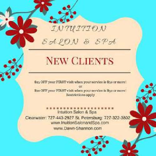 Intuition Salon & Spa New Client Special