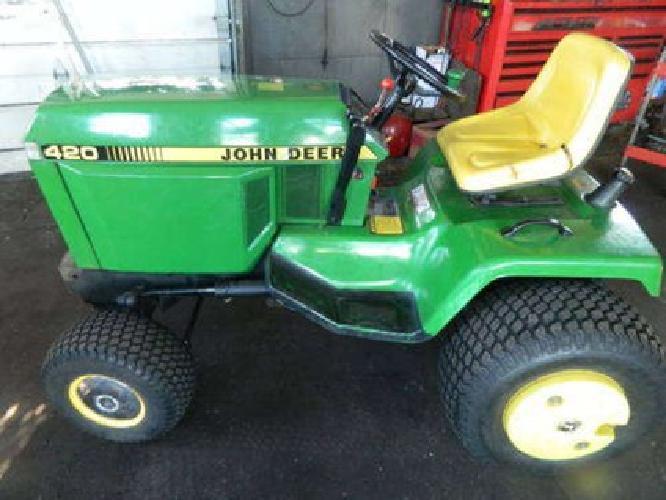John Deere 420 Garden Tractor For Sale In Rockford Minnesota Classified