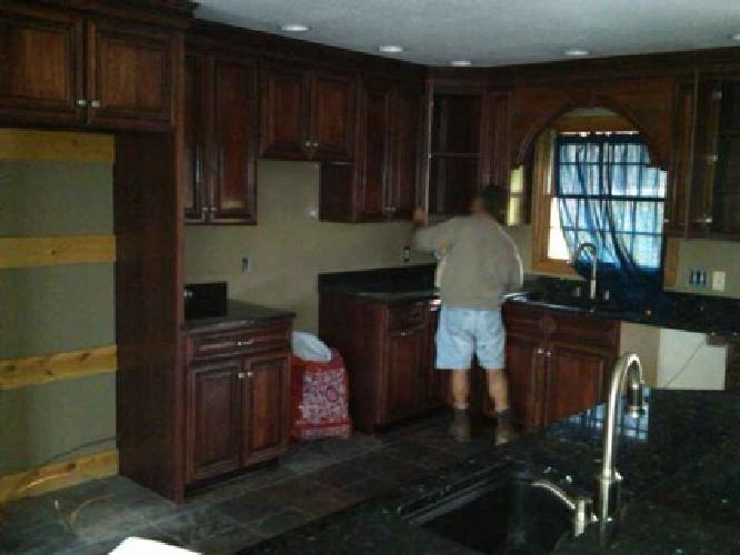 Glazed Kitchen Cabinets Pictures on Kitchen Cabinets Glazed Hickory And Granite Countertops In Cleveland