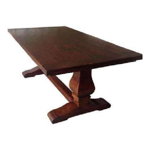 Large Double Pedestal Trestle Extension Dining Table 133