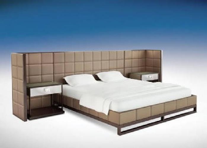 Metal fabric bedroom set bed frame dresser for Bedroom furniture 94109